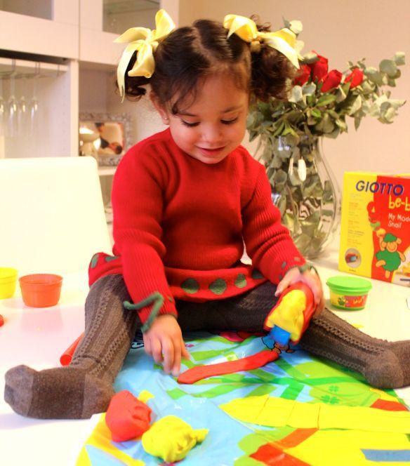 plastilina y niños