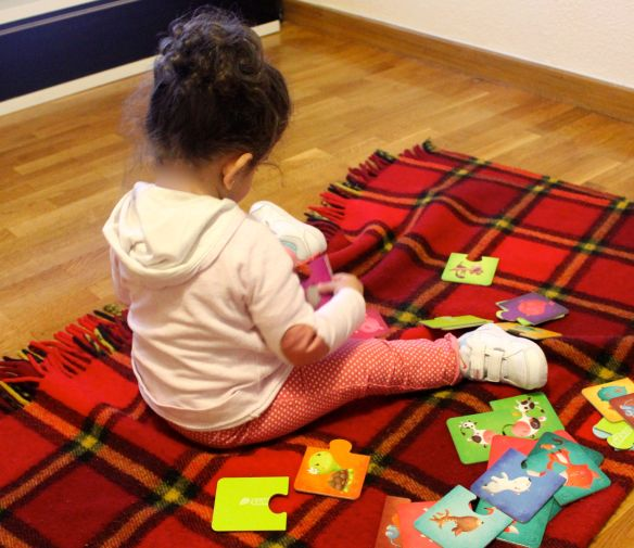 puzzles y niños