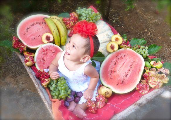 frutas y bebes