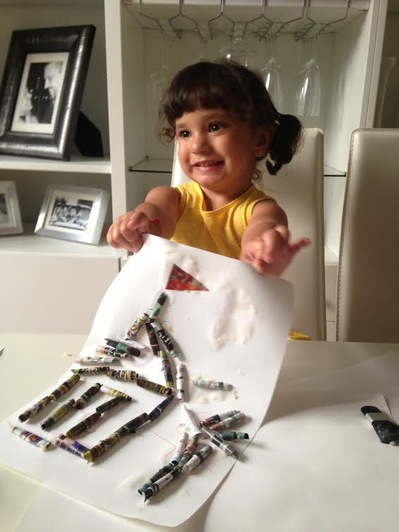 tecnica papel enrollado niños