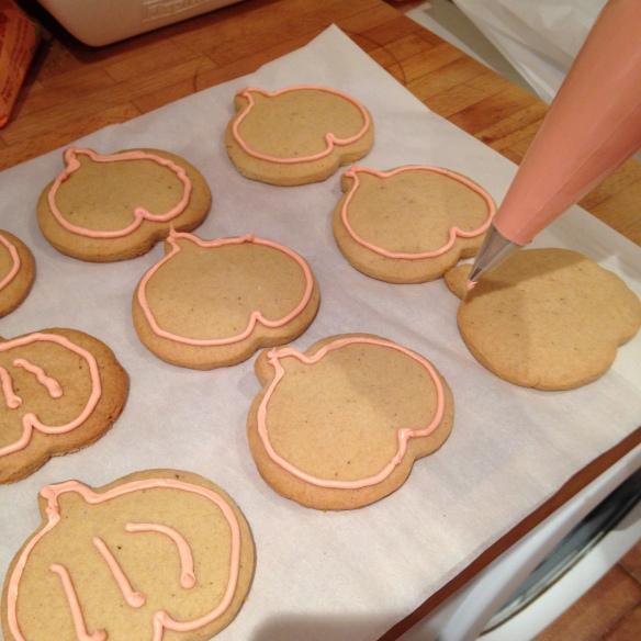 galletas para halloween preparada por niños