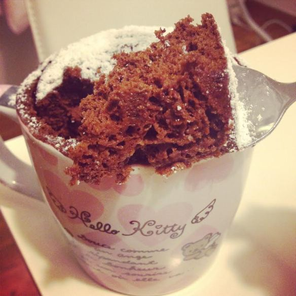 mug cake listo